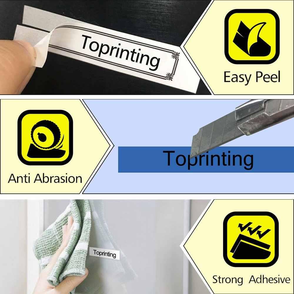 ססגוניות tze-221 Tze221 9mm תואם עבור Brother p-touch תווית מדפסות צה קלטת Tze231 צה 221 Tz-221 תווית סרט קלטת