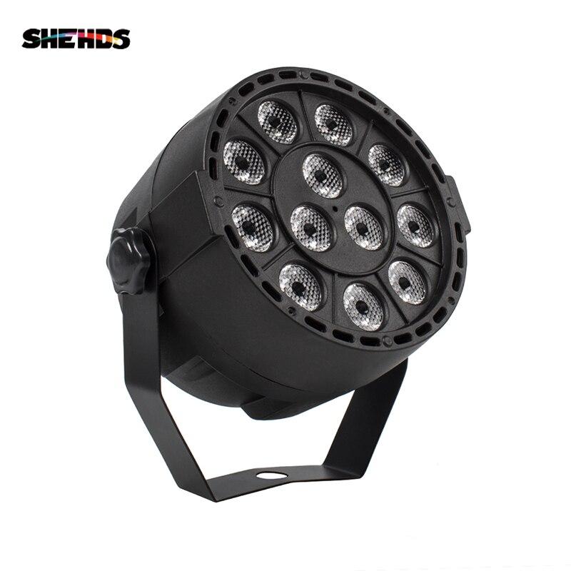 LED Par 12x3W RGBW CONDUZIU a Luz Do Palco Par Luz Com DMX512 para Disco DJ projetor Partido Máquina decoração SHEHDS Iluminação de Palco