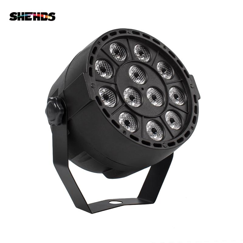 LED Par 12x3W RGBW LED sahne ışığı Par ışık ile DMX512 disko için DJ projektör makinesi parti dekorasyon SHEHDS sahne aydınlatma