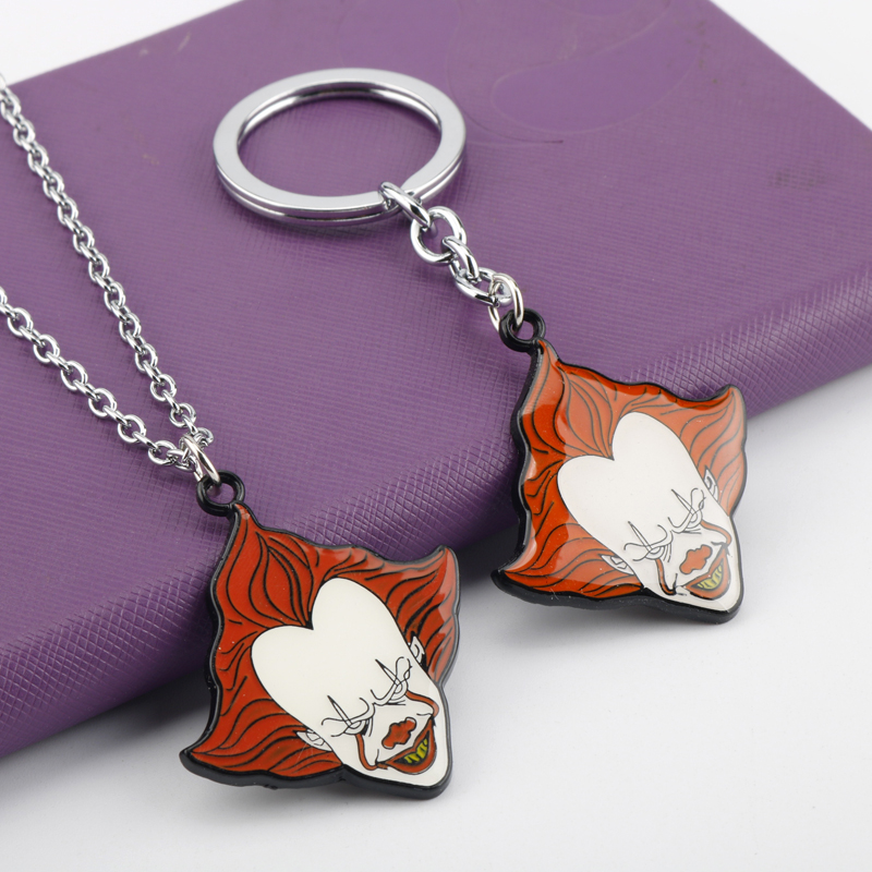 Horror Movie Stephen King's It Figure Keychain Pennywise-Mask Halloween Scary Pendant Key Chain Key Rings  Cosplay  Jewelry