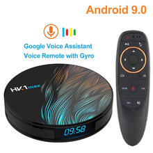HK1 MAX Android 9.0 Smart TV Box 2G+16G/4G+32G/4G+64G/4G+128G Quad-Core 4K Wifi Netflix Set top Box Media Player Android 9.0 Box цена и фото