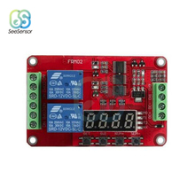 цена на DC 5V 12V 24V LED 2 Channel Multifunctional Relay Module Cycle Delay Timer Switch Self-Locking Programmable Time Relay