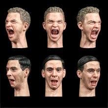 1/6 Male Facepool Head Sculpt Carving FP-A-005  FP-SC-001 expression head Sculpt Model fit 12