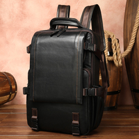 Laptop Backpack Men Genuine Leather Backpack Men's Notebook Computer Bag Male Cow Leather Travel Backpacks For Macbook HP DELL