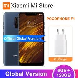 Global Versão Xiaomi POCOPHONE F1 6 GB GB POCO 64 20MP F1 Snapdragon 845 4000 mAh Do Telefone Móvel Câmera Frontal 6.18
