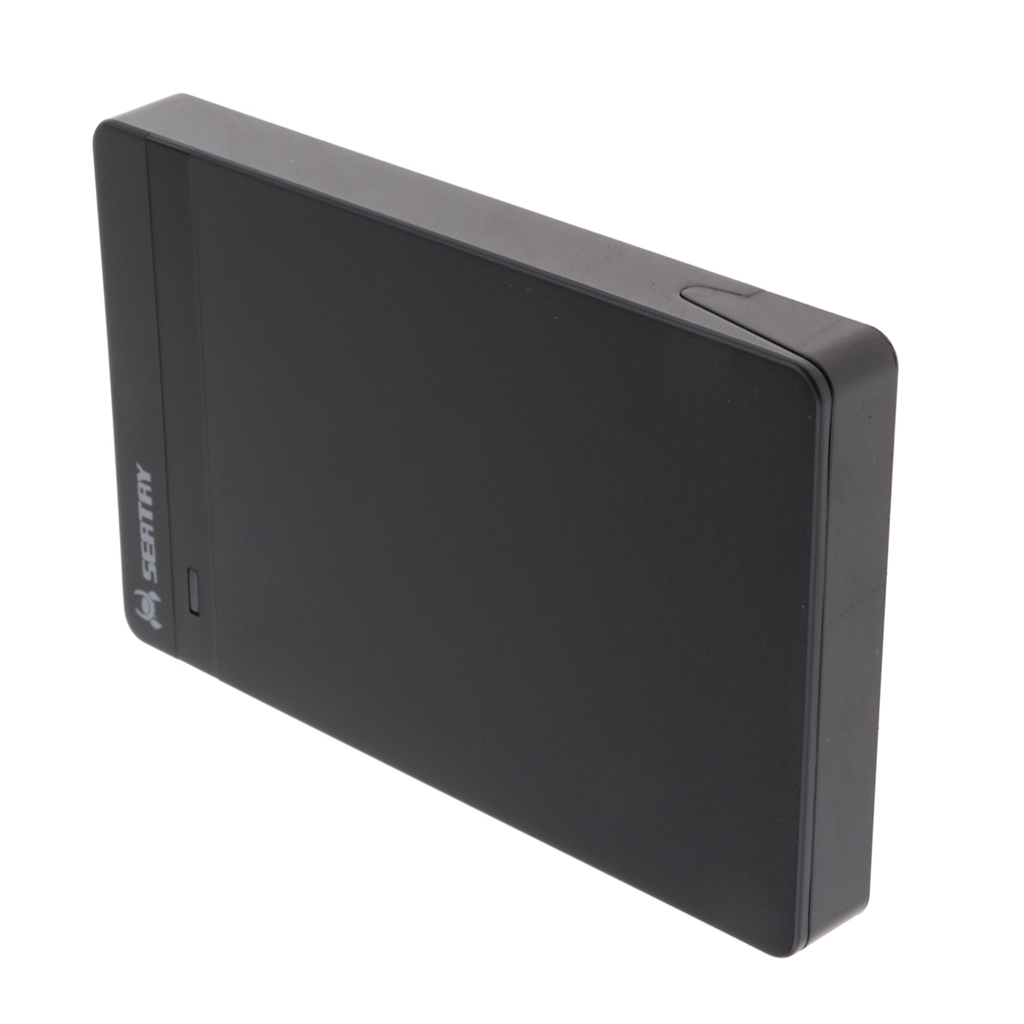 2.5inch SATA To USB 3.0 External Hard Drive Enclosure Cover Box For SSD, Plug And Play, Black