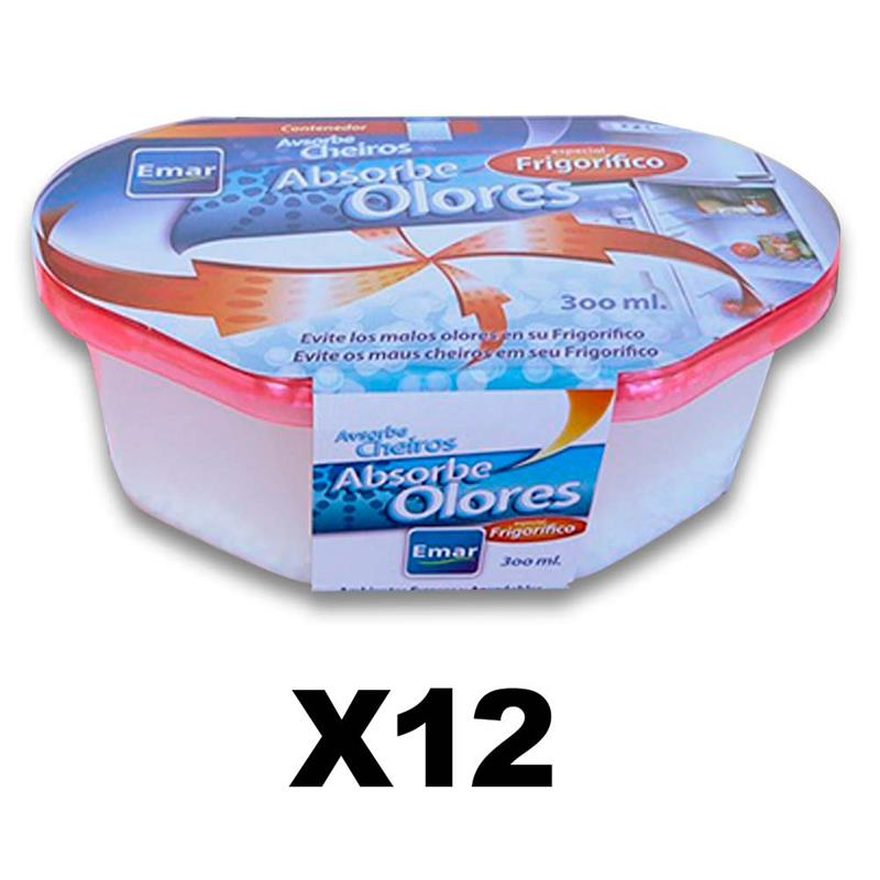 PACK 12 Units 1120-Odor Absorbing Refrigerator 300 Ml. Capacity Airtight Anti-discharges