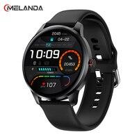 MELANDA 2021 Neue Smartwatch Männer Voller Touch Smart Uhr Frauen IP68 Wasserdichte Sport Herzfrequenz Blutdruck Monitor Armbanduhr