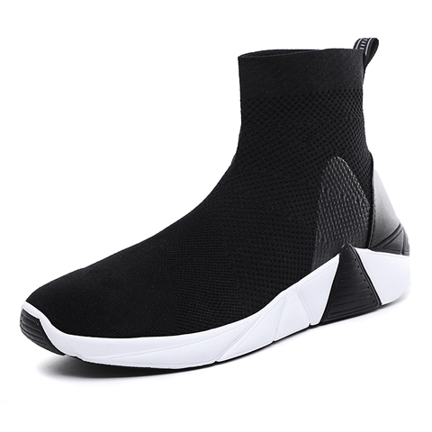 Socks shoes high waist couple high-top shoes white breathable men and women sports shoes tide shoes  casual shoes Karachi