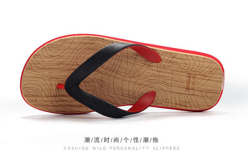 Sandalet erkekler Sandalias Hombre gladyatör sandalet erkek yaz roma plaj ayakkabısı Flip flop daireler üzerinde kayma terlik slaytlar