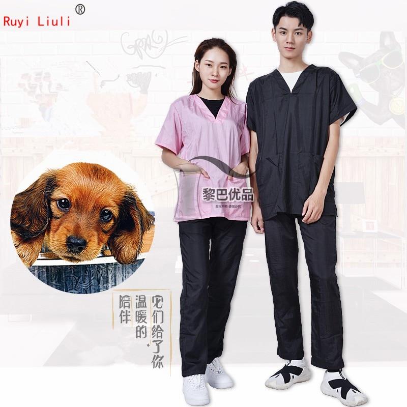 Pet Groomer Uniform Cat Dog Hair Waterproof School Hospital Dedicated Apron Custom Logo Wash Dog