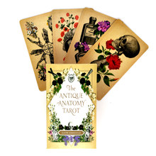 The Antique Anatomy Tarot Cards Mystical Guidance Divination Entertainment Partys Board Game Supports Wholesale 78 Sheets/Box