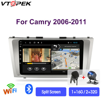 Vtopek 9 4G+WiFi Android 9.0 Car Radio Multimedia Video Players Navigation GPS For Toyota Camry 40 50 2006-2011 Head Unit 2 din vtopek 9 4g wifi 2din android 8 1 car radio multimedia player navigation gps for toyota prado 3 j120 2003 2009 head unit 2 din