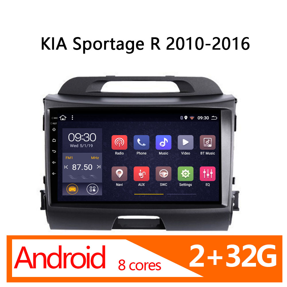 radio coche for KIA Sportage R android 2G+32G 8 core 2010 <font><b>2011</b></font> 2012 2013 2014 2015 2016 automagnitol car <font><b>multimedia</b></font> auto stereo image