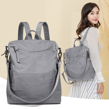 2019NEW HOT SALE Brand Tencel wrinkly Oxford Backpack Leisure anti-theft female Backpack Travel large capacity women's Backpack