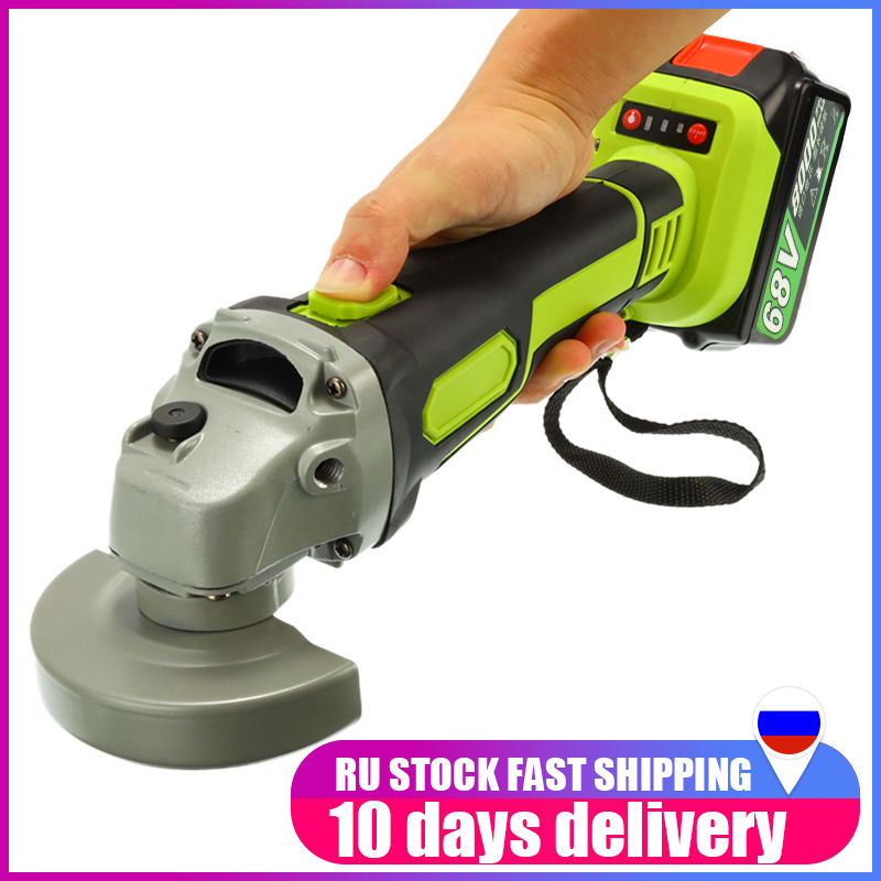 Brushless Polisher Grinding Metal Cordless Angle Grinder 68V 3000rpm  Cutter 8000mAh Lithium-ion Battery Rechargeable Power Tool