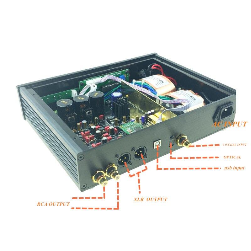 Image 3 - 2019 ES9038 ES9038PRO USB DAC DSD decodificador digital a convertidor de Audio analógico de alta fidelidad DAC de Audio Amanero o XMOS XU208 para ampAmplificador   -