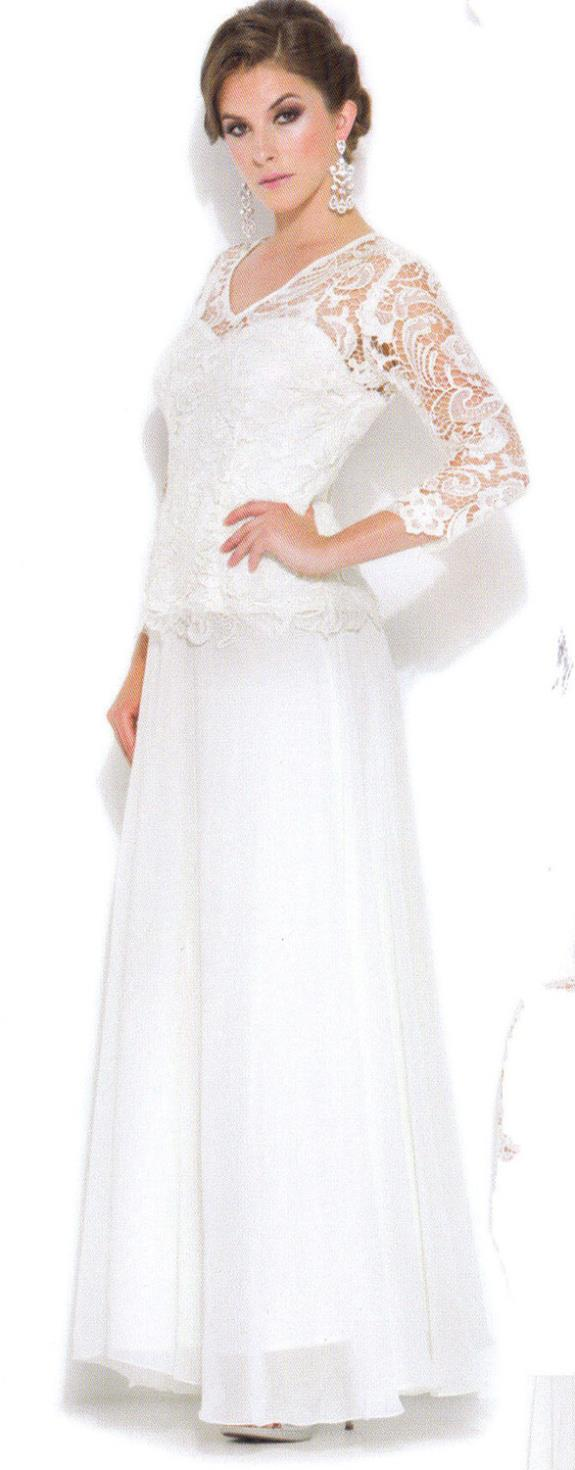 2016 Limited New hot Full free Shipping Formal Gown Occasion Mother of The Bride groom Plus Size Long Sleeve lce wedding dress