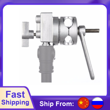 Meking 4 in 1 Full Metal Grip Head Long Handle For Boom Arm Extension Pole Cross Bar Light Stands Heavy Duty C stands Studio