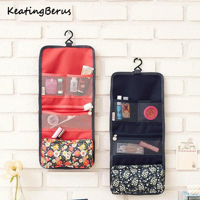 New Multifunctional Travel Hook Print Cosmetic Bag Oxford Fabric Cosmetic Bag Portable Cosmetic Storage Bag