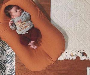 Переносная кровать для новорожденных мальчиков и девочек, кровать для путешествий, хлопковая Колыбель для малышей, детская кроватка