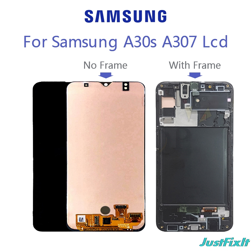 Replacement 6.4' For <font><b>Samsung</b></font> Galaxy <font><b>A30s</b></font> LCD A307F A307FN A307G A307GN A307YN <font><b>Display</b></font> With Frame Digitizer Assembly image