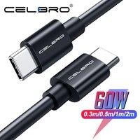 0,5 M/1,5 M/2M USB tipo C a tipo C de Cable QC4.0 rápido de carga para Samsung Galaxy Nota 10 20 S20 Ultra interruptor USB C a C Cable