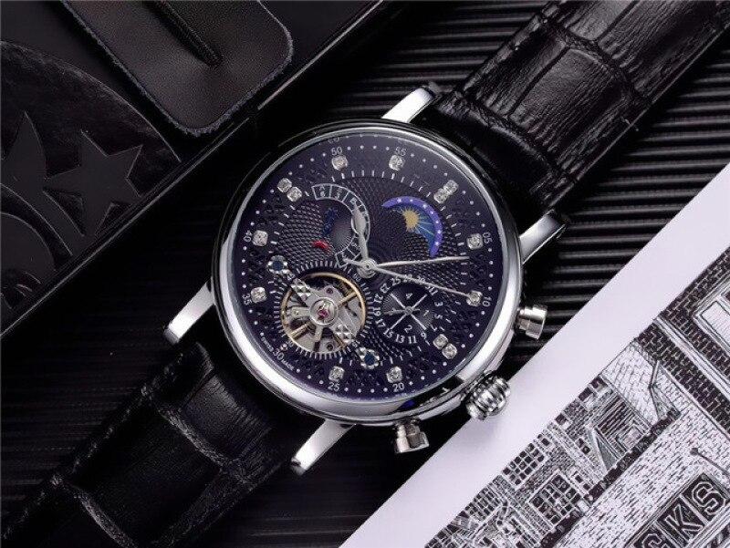 Fashion Watch Leather Tourbillon Watch Automatic Men Wristwatch Men Mechanical Steel Watches Relogio Masculino Clock