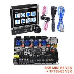 BIGTREETECH SKR MINI E3 V2.0 + TFT35-E3 V3.0 Комплект для платы управления TMC2209 UART Запчасти для 3D-принтера CR10 ender 3 обновленный сенсорный экран