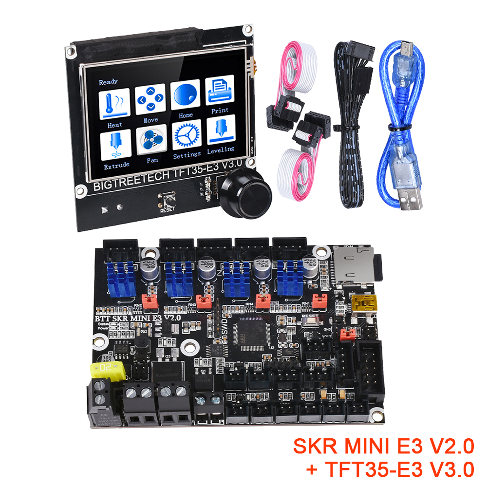 BIGTREETECH SKR MINI E3 V2.0 + TFT35-E3 V3.0 Control Board Kit TMC2209 UART 3D Printer Parts CR10 ender 3 Upgrade Touch Screen
