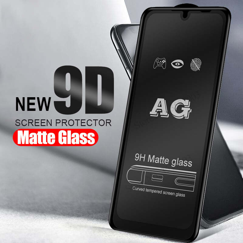 9D Full Glue Matte Glass For Xiaomi Mi 9t 9 8 A2 Lite Tempered Glass On Xaomi Redmi Note 8 7 6 Pro Frosted Screen Protector Glas
