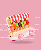 ToyWoo children play every toy ice cream truck girl ice cream ice cream ice cream ice cream set simulation Popsicle boy