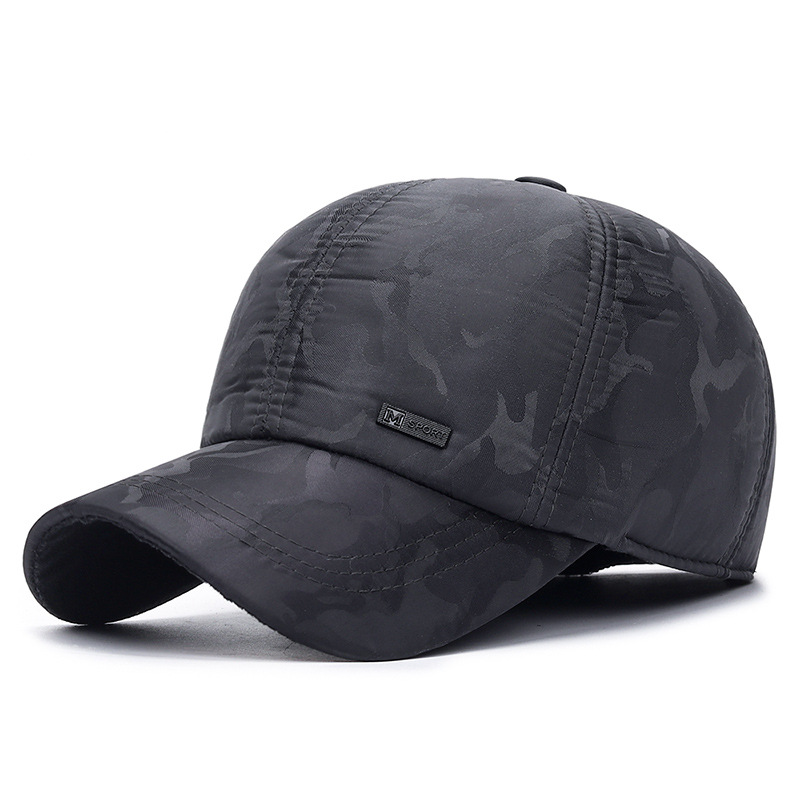 2019 New Ear Protection Winter Camouflage Hat Men's Outdoor Sports Warm Thick Earmuffs Snapback Baseball Caps For Men Casquette