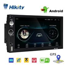 "Hikity 2din Andriod 8.1 Car Multimedia Player GPS Navigatie Bluetooth 7 ""MP5 Speler Wifi USB Spiegel Link Auto Audio radio Stereo"