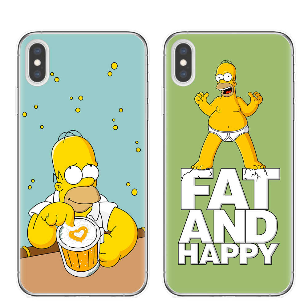 Cute Cartoon Simpson Phone Cases For iPhone 6 S 6S 7 8 Plus Case Silicone Soft TPU Cover Case For iPhone 11 Pro XS Max X XR Capa