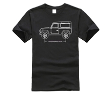 2019 Summer Style 100% cotton Land Car Rover 90 Utter Perfection Blueprint T-Shirt Gift Idea T Shirt Tee shirt