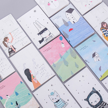 1pcs/lot Cute Korea Small Fresh Soft 32k Car line A5 notebook House Series Diary Notebook Stationery Supplies for School Offices 1pcs lot small green tree series small coil diary notebook stationery sketchbook school offices supplies