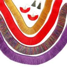 Adorno de malla con flecos de encaje de poliéster grueso, prendas para la cabeza, cortina, pendientes, decoración artesanal, tejido de 3cm de color, listón para coser, 1m
