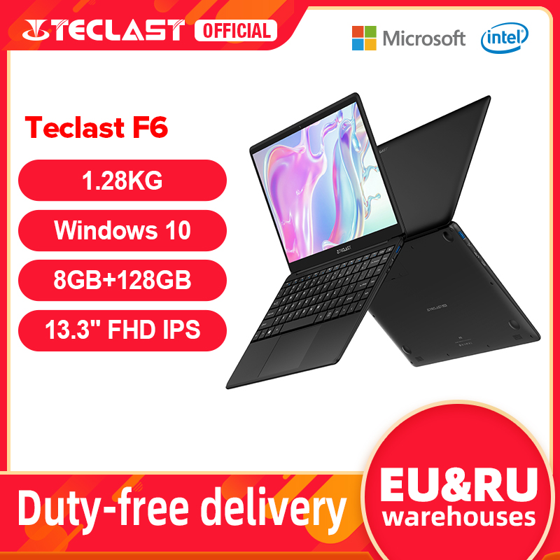 Teclast-F6-Laptop-pi-recente-8GB-LPDDR4-128GB-SSD-1-28KG-Notebook-13-3-IPS-1920x1080 Offerta Tablet e Notebook Cinesi: Offerte Aliexpress 11° Anniversario fino al 2 Aprile 2021