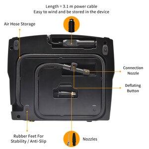 Image 4 - WINDEK ضاغط هواء للسيارة الرقمية الإطارات نفخ مضخة منفاخ كهربائي 12 فولت مسبقا ضغط الإطارات السيارات وقف السيارات مضخات للسيارات