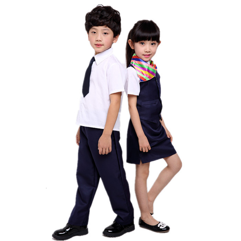 Kids Boy Bank Teacher Girl Stewardess Skirt Professional Cosplay Costumes Children Air Force Clothing Performance Pilot Uniforms