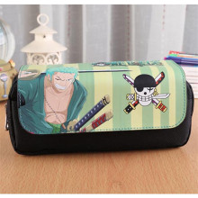 Anime ONE PIECE Cartoon Roronoa Zoro Skull Pencil Bag Organizer Holder Pouch Make Up Bags Student Study Supply Pencil Case Gifts(China)