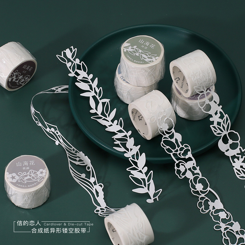 25mm*3m Plant Flower Hollow Masking Tape Decoration Washi Tape DIY Planner Scrapbooking Diary Masking Tape Escolar