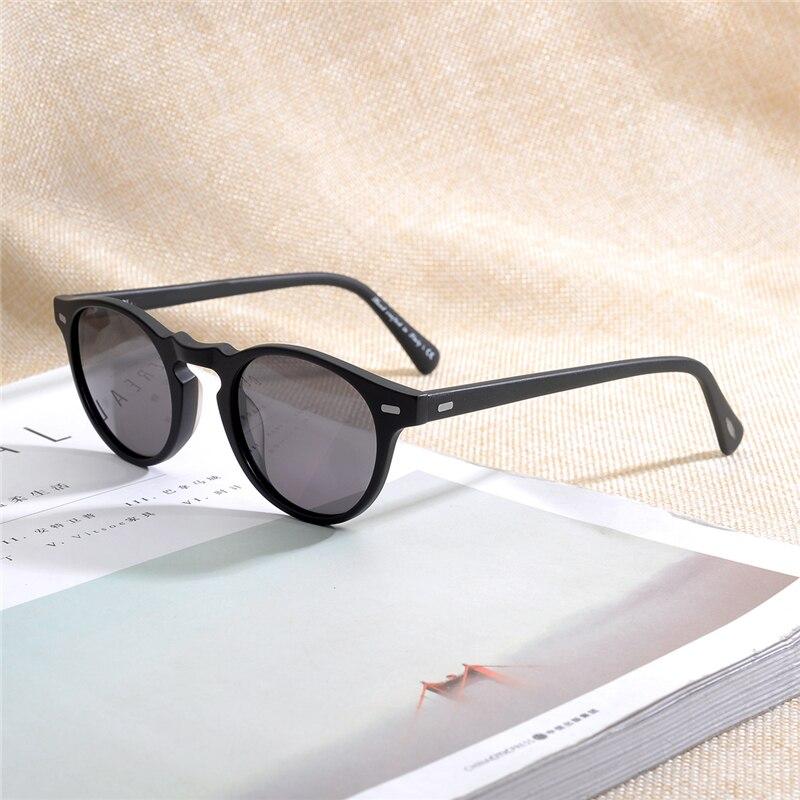 Vintage Polarized Lense sunglasses  Gregory Peck  Brand Designer men women Sunglass OV5186 retro Sun glasses gafas oculos