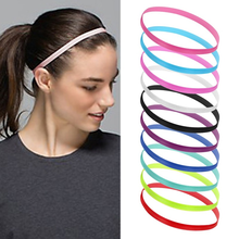 Женщины стрейч спорт йога повязка на голову повязка на голову для мужчин спорт бег фитнес повязки на голову резинка противоскользящие повязка на голову тренажерный зал повязки на голову