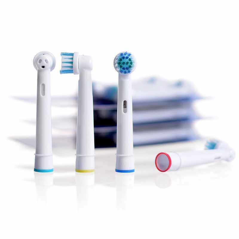 4pcs Replacement Toothbrush Heads Electric Brush Fit for Oral B Braun Models Power Triumph Precision Clean image