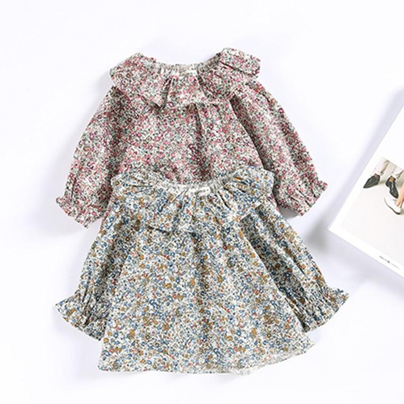 Toddler Girls Tops Kids Tee Shirt Spring Summer Children Blouse For Girls Clothes Flower Print Baby Outwear Stuff