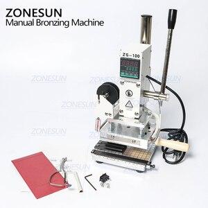 Image 5 - ZONESUN Machine destampage à chaud à double usage, Machine à bronzer, gaufrage pour cartes PVC, gaufrage pour cuir et bois