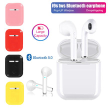 I9s Tws Wireless Headphone Bluetooth Earphone Bisnis Earbud Stereo Sound untuk Iphone Xiaomi Samsung Ponsel Kasus(China)