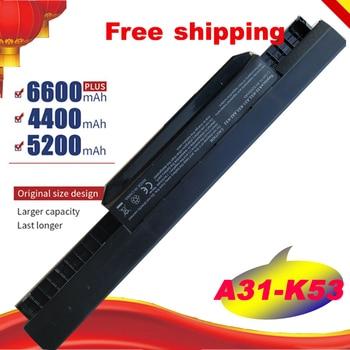 HSW  Laptop battery For ASUS K53 K53B K53BY K53E K53F K53J K53S K53SD K53SJ K53SV K53T K53TA K53U n 042 2 5mm dc power jack for asus k53 k53s k53e k53s k53sv a53z a53s k53sj k53sk laptop dc connector port socket connector